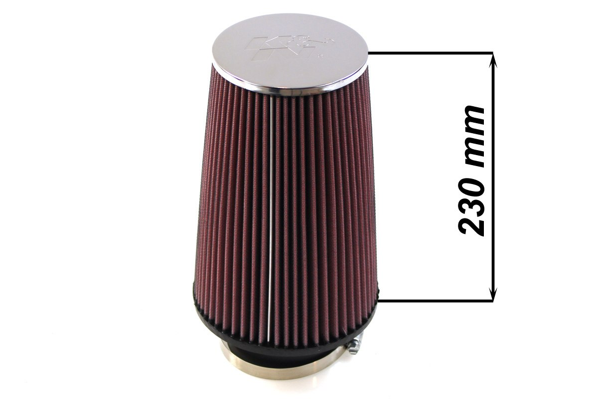 Filtr stożkowy K&N RC-3690 80-89mm - GRUBYGARAGE - Sklep Tuningowy